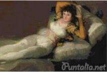 Goya / En esta sección podrás ver las imágenes en alta calidad de nuestros gráficos de punto de cruz de Goya en HD