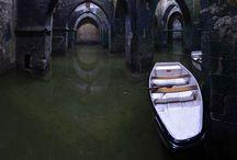 Medieval | somber crypt / The undergrowth #catacombs #cemetery #chamber #cistern #corpse #crypt #dark #death #dungeon #hidden #lanterne des morts #ossuary #saint #Scorpio #secret #sewer #somber #torture #underground #wadi #water