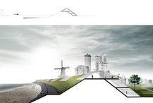 Urban | rising tide / Urban vs global warming #dike #sluis #channel #flood #polder #wave #tsunami