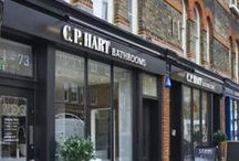 C.P. Hart Studio Italiano / C.P. Hart's Studio Italiano on Gloucester Avenue London is a gem of a showroom, housing a fantastic take on bathroom design. We're open from 9am to 5:30pm, Monday to Saturday. Find us at 71-73 Gloucester Avenue, NW1 8LD.