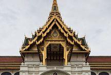 Medieval | eclectic Wat / Pointy winged thingy #naga #exotic #Thailand #Burmese #Balinese #Angkor
