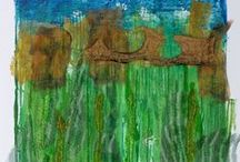 My Art Gallery /  Original abstract felt paintings and mixed media fiber art.