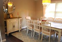 Dining Room Ideas / All styles to ponder, touches of wood and grey. / by Barbara Elson