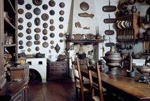 Medieval | humble kitchen / #bake #brass #hufflepuff #humble #kitchen #stove #yellow