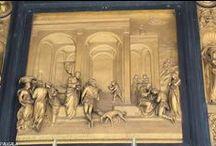 Florencia. Italia. Puerta del Paraíso. Detalle. 1425-1452. Lorenzo Ghiberti. / Photo Travel History Art Architecture Fotografía Viajes Historia Arte Arquitectura