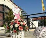 Hello Kitty Theme / Hello Kitty Theme - Girl's christening decoration - Candy bar