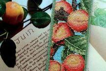 cross stitch - bookmarks/krížiková výšivka - záložky