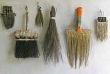 Implements Utensils Vessels / historic, handmade, bespoke : containers, brushes, cutlery, tools