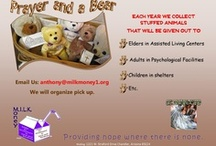 """Prayer and a Bear / Mission:  """"Provide comfort to those who may otherwise be forgotten."""" http://milkmoney1.org/programs/prayer-bear/#"""
