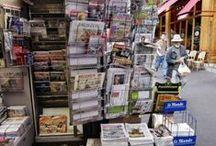 Revues de presse / méthodologie, exemples de revues de presse, documents sur les médias...
