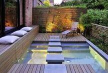 Ideen-Garten - Wassergärten / Ideen mit Wasserelementen für den Garten, Terrasse oder Balkon. Sei es der klassische Gartenteich oder ein dekorativer Gartenbrunnen zum Aufstellen oder Eingraben.