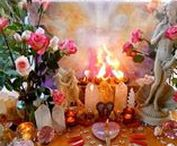 Sacred Space Inspiration / Sacred spaces to inspire your own rituals.