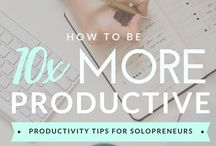 Productivity / This board is for online entrepreneurs and Solopreneur. Find out how to be more productive and organized so you can get your life back. Productivity tips, how to get more done in the day and save time as a Solopreneur