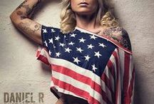 U.S.A.!  / US patriotic tattoos, President's Day, flags and love and respect for our men and women in uniform