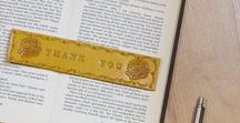 Leather Bookmarks / Handmade leather bookmarks are a practical way to add even more enjoyment to your reading.