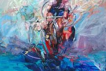 Road Bike Cycling Art