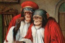 """ars simia naturae est / """"la habilidad del mono para copiar al hombre avala la habilidad del hombre para remedar la naturaleza"""". J.Clair, Elogio de lo visible."""
