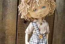 Cloth Dolls / Lovely handmade cloth dolls. / by Shari Lynne Hawkins