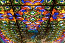 STAINED GLASS / Inspiration for stained glass paintings from various parts of the world. / by Trisha Hoque