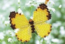 beaded/charted butterflies plus