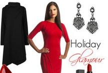 Dress for the Holidays / A collection of our favorite looks for the holiday season, complete with a fabulous cocktail dress from Perlae Couture.
