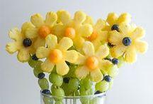 Min of meer gezonde traktaties / Traktaties voor kinderen, gemaakt met fruit, groente of andere niet al te zoete dingen