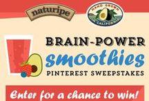 Brain Power Smoothies / #BrainPowerSmoothies #Naturipe  / by Kasey Williams