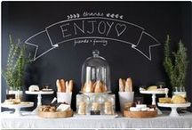 Party // Buffet / Beautiful layouts and ideas for buffet entertaining