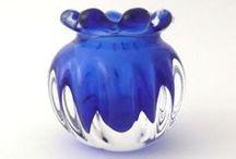Sklo - Bohemia - Skrdlovice - Czech Glass / Sklo - Bohemia - Czech Glas - Skrdlovice - Mid Century