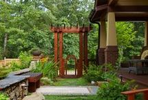 Wood / Garden gates, trellis and arbors.  These pictures highlight create ways to use wood in the landscape.