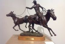 Bronze Art / The Museum of Western Art has an extensive collection of spectacular bronzes depicting the old west.  #cowboys #horses