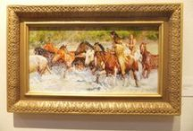 2014 RoundUp Art / Wonderful western art featuring #cowboys, ranches, the old west, #horses, #Bronze sculpture and more. Artwork was exhibited until May 24, 2014 and was for sale.  The Fall RoundUp will be October 25, 2014.  Phone the Museum of Western Art in Kerrville TX at 830 803 6233.