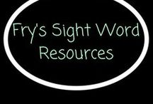 Fry's Sight words / Fry's Sight Words ideas and resources