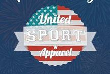 Holiday Logos / We at United Sport Apparel love getting into the spirit of the holidays! Here are a few of the outfits our logo has tried on to celebrate.