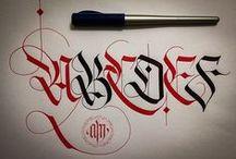 kalligrafie alfabetten