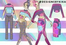 Designs by KIKA 2016 Knit & Print Mix Collection / http://designsbykika.com