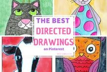 Directed Drawing Ideas & Resources / A collection of direct drawing pins for use at school! Kids love doing these!