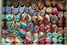 Painted Pebbles / for those who love painting on pebbles