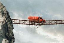 Troubled BRIDGE over water / by Edwin van den Berg