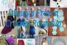 Disney's Frozen Crochet Pattern Roundup / Disney's Frozen Crochet patterns, the best of Elsa Anna and the gang.