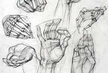 How to draw: hands and feets