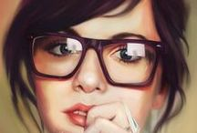 Portraits / Focused on realistic or semi-realistic styles of painting.