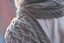 Knitted Scarves / Knitted Scarf Inspiration