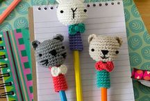 Crochet: Pencil Toppers / A selection of crochet pencil topper patterns both free and paid for