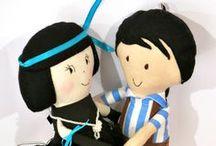 1.5 - Rag Dolls / Handmade fabric dolls - Rag Dolls - Bambole di stoffa - Pigotte