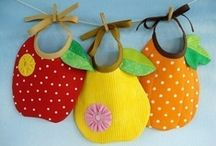 Baby Bibs, Diapers and Rattles