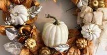 Fall Home Decor & Fall Craft Ideas / Fall Decor, Fall, Pumpkins, Autumn Decor, Fall Ideas, Fall crafts, Fall DIY projects