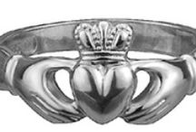 Claddagh Rings - Gold & White Gold / An Irish symbol of love, friendship and loyalty.