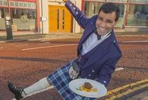 Burns' Night 2014 / Check out Raval boss Avi Malik in full Scottish dress to launch this special haggis curry dish.