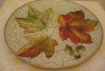 Decoupage - Glass plate